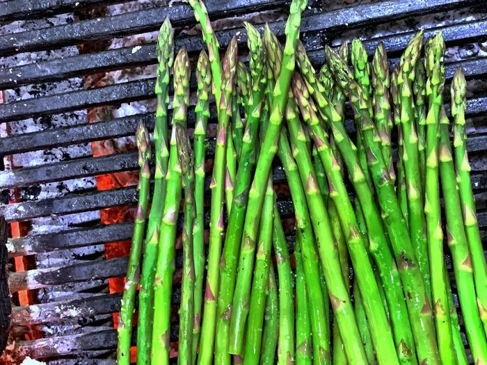 Grilled IPhoneography Green Color No People Vegetable Food And Drink Day Healthy Eating Food Asparagus High Angle View Full Frame Backgrounds Large Group Of Objects Freshness Wellbeing Abundance Pattern Nature Side By Side Plant
