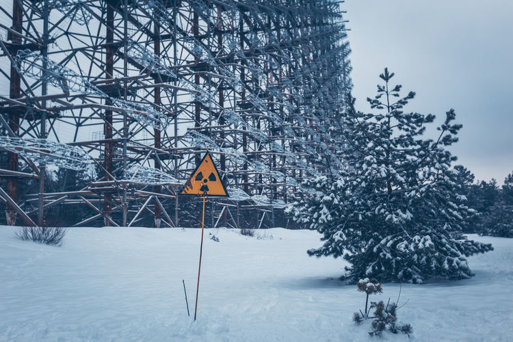 1986 Chernobyl Chernobyl Power Station Chernobyl Tour Explosion Get Your Guide Get Your Guide Tour Jake Longley Jake Longley Photography Kiev Nuclear Power Power Station Pripyat Russia Ussr Ukraine Tree Winter Snow Cold Temperature Plant Nature Sign Beauty In Nature Covering Day No People Land Road Sign Scenics - Nature Communication Outdoors Sky Tranquility White Color