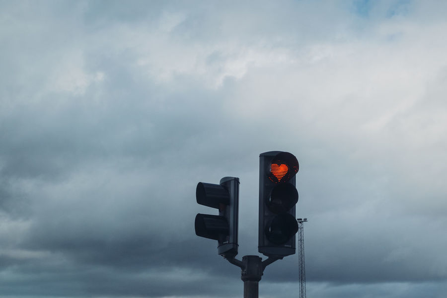 iceland Roadtrip City Cloudy Cloudy Sky Red Traffic Ample Citylights Heart Heart ❤ Redheart Traffic Lights