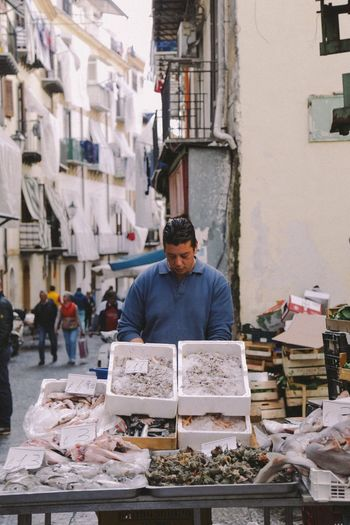 The Street Photographer - 2017 EyeEm Awards Market Stall Market Retail  Outdoors Small Business One Person Real People Building Exterior Men Day Food Architecture One Man Only City Adult Only Men People Palermo Sicilia Sicily Fish Fish Market