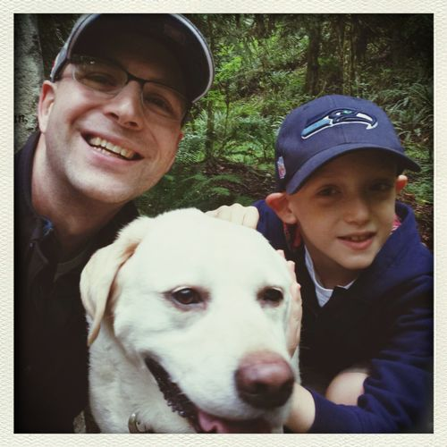 Nice hike with my boys. Great lil 2mi hike w/Jack & Toohey.