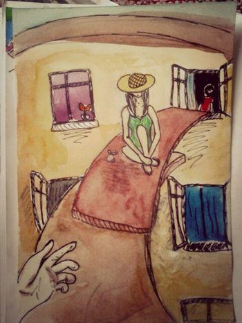 Illustration H. Kortasar, Playing Classics Watercolor