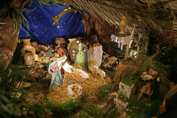 Nativity scene, Cana-Church of the Miracle Joseph Adoration Art Baby Birth Caña Christmas Church Creche Faith Holy Israel Jesus Kings Magi Miracle Nativity Scene Peace Religion Saint Shepherds Spiritual Virgin Mary Wise Man