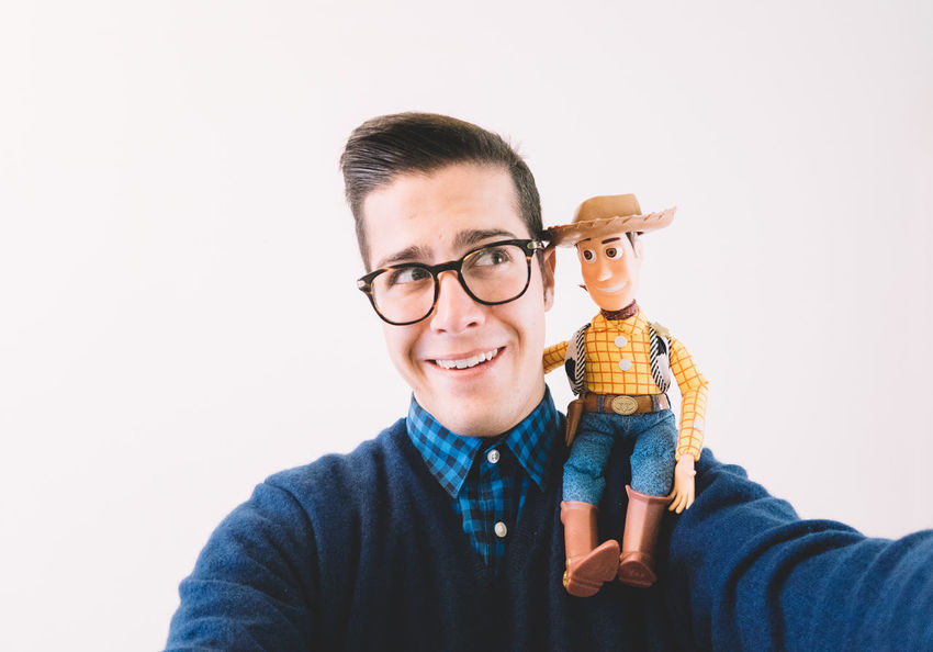 I've got a friend in me Casual Clothing Composition Confidence  Contemplation Front View Happiness Head And Shoulders Headshot Human Face Lifestyles Person Pixar  Portrait Real People Smiling Toy Story VSCO Vscofilm Woody Young Men