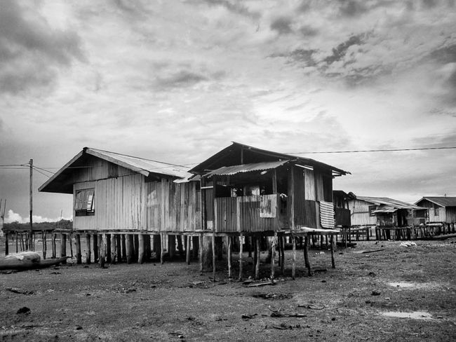 the houses on the wood columns Beach Sky Architecture Building Exterior Built Structure