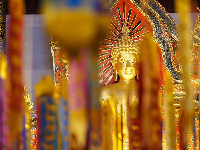Art Art And Craft Arts Culture And Entertainment Chiang Mai Close-up Creativity Cultures Depth Of Field Focus On Foreground Glowing Hanging Human Representation Ideas No People Ornate Sculpture Selective Focus Shiny Statue Thailand Tradition Spotted In Thailand
