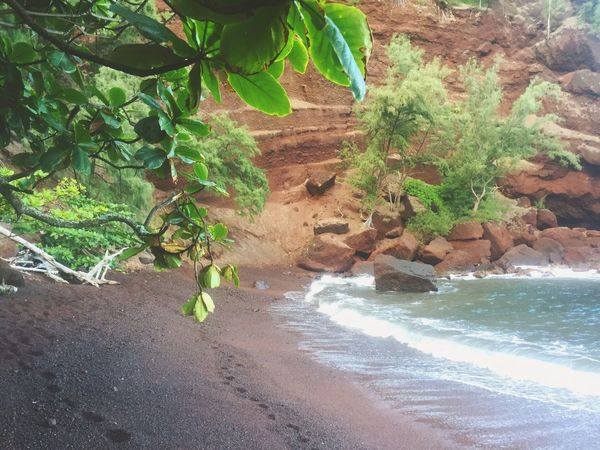 Hawaii Maui Red Sand Beach Outdoors Travel Destinations Coast Tranquility Travel Photography Landscape Nature Photography Landscape_photography Outdoor Photography Best Beach Places To Visit Nature_perfection Nature At Its Best Places To See Before You Die Paradise Red Sand