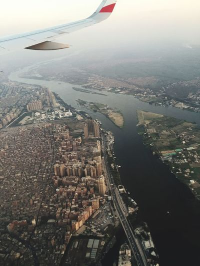 Egypt Airplane Wing Flying Aerial View Cityscape Air Vehicle NileRiver Nile Wonderful View