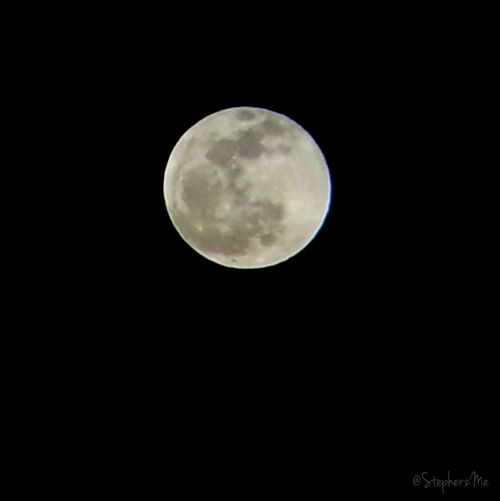 My first shot at capturing a full moon.