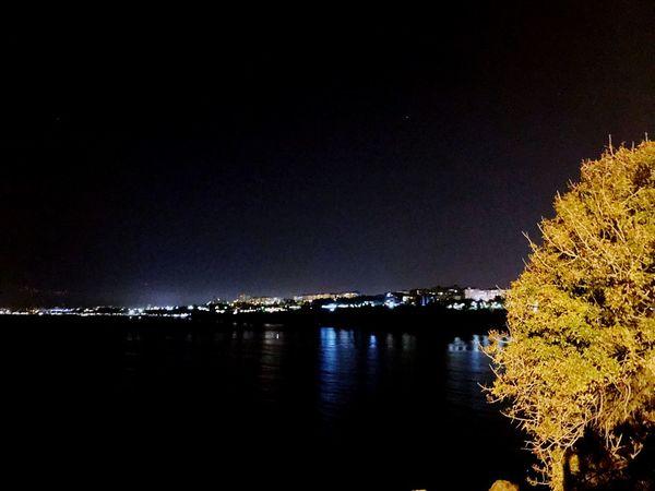 Night Water Illuminated Sky Reflection Nature Scenics - Nature Sea
