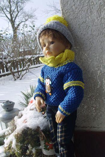 Child Portrait Cold Temperature Cute Desire Doll March Spring Winter