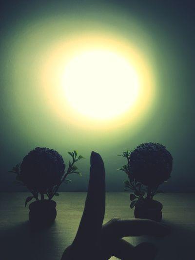 When you create your own sun Silhouette Sun Circle Majestic Dark Vibrant Color