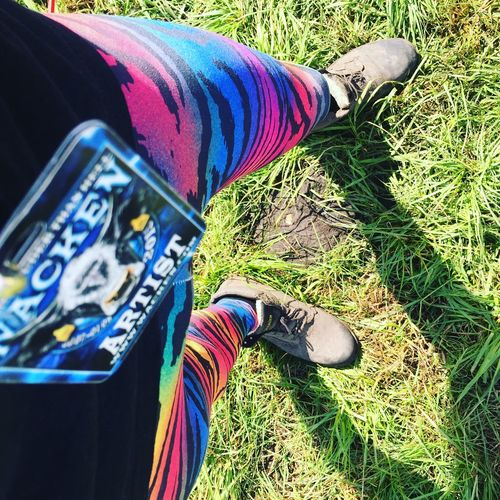 Artist Close-up Day Grass Legs Multi Colored One Person Outdoors People Rainbow Real People Tiger Tiger Pride Tiger Print Wacken Wacken Open Air 2015 Wackenopenair WackenOpenAir2016