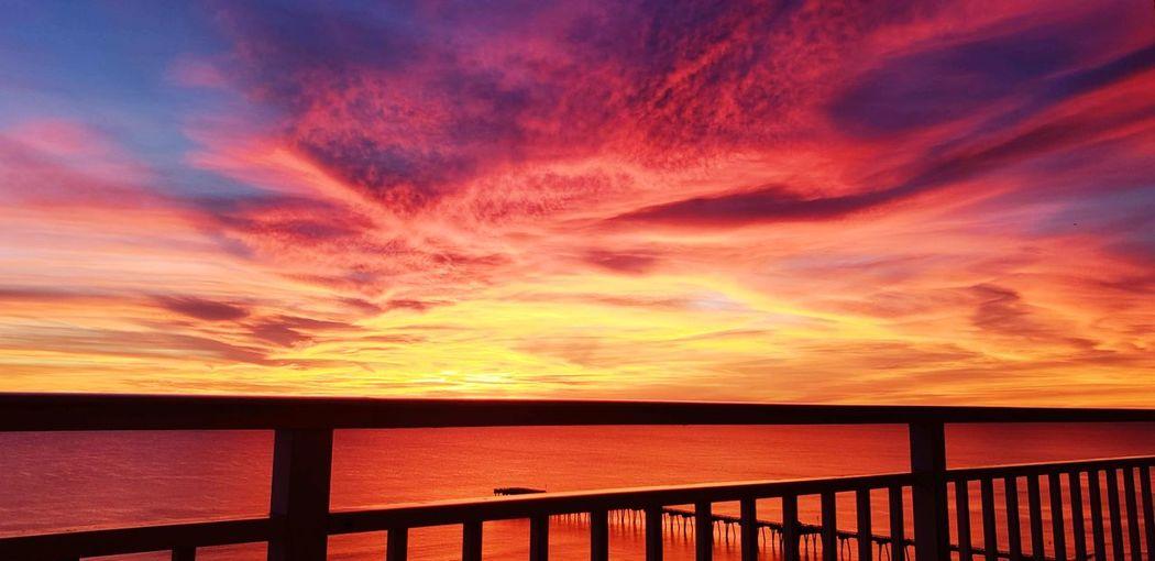 Water Sea Sunset Beach Horizon Red Multi Colored Blue Sunlight Summer