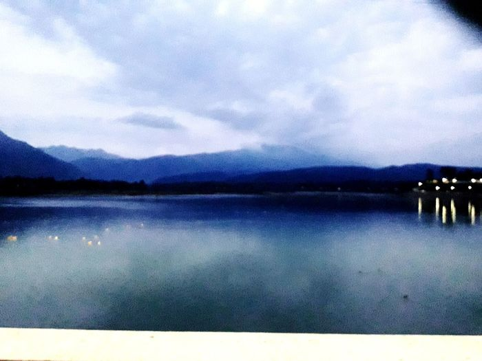 Dakpathar barage #bestplacetolive Water Lake Mountain Star - Space Reflection Idyllic Sky Cloud - Sky First Eyeem Photo
