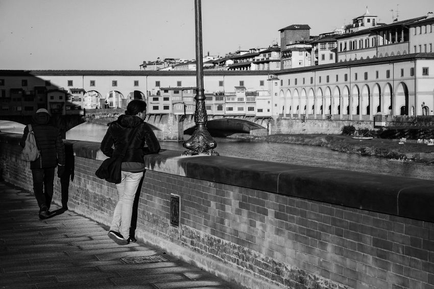 looking for answers Arno  Arno River Bridge Canon 350D City Florence Florence Italy Indifference Loneliness Ponte Vecchio Pontevecchio River Sadness The Street Photographer - 2017 EyeEm Awards