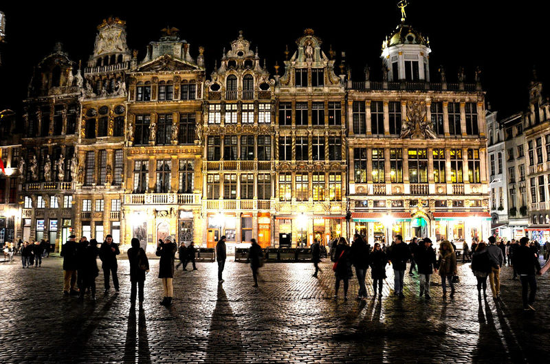 Shadows & The City Brussels Bruxelles City Night Lights cityscapes Belgium Metropolis Night Travel Destinations Illuminated Architecture Building Exterior