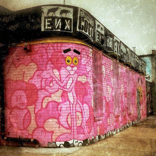 Pink Sunday! Pinkpanther Bushwick Bushwickcollective Knickerbockerave Brooklyn BrooklynArtists Artists Brooklynstreets Onlyinbrooklyn Graffiti Dailywalk Dailyphoto Dailydose Inastateofsunday Newyork