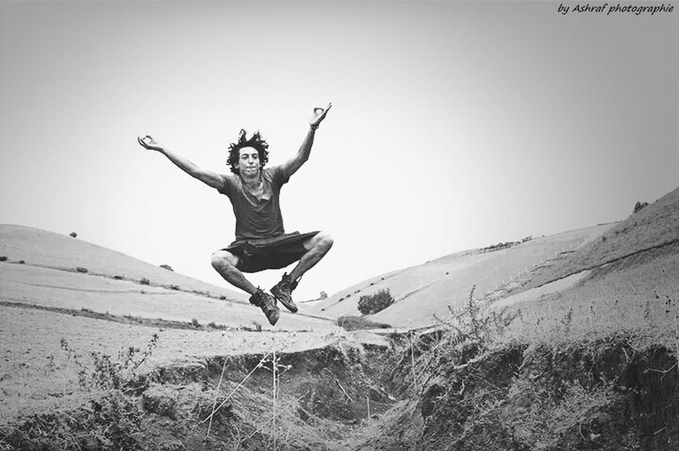 oppppla ♥ jumping Happy Beautiful Day Hello World Black & White