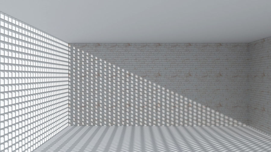Full frame shot of patterned wall in building