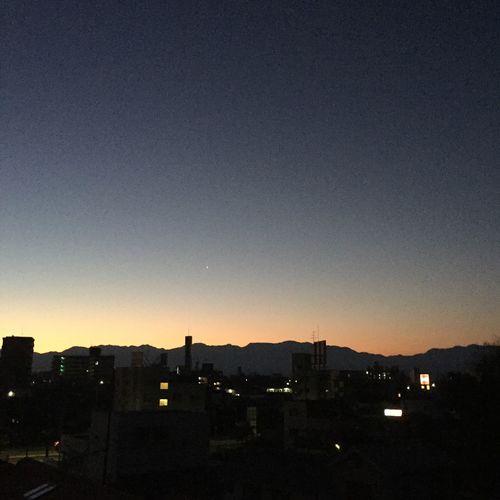 夜明け前 四国山脈