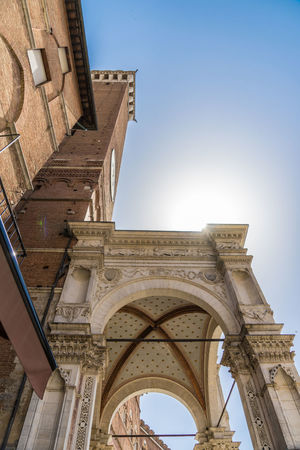 Shot in the city of Siena, Italy Against The Sun Arch Architectural Column Architecture Building Building Exterior Built Structure City Clear Sky Day History Low Angle View Nature No People Old Outdoors Ruined Sky Sunlight Sunstar The Past Tourism Travel Travel Destinations