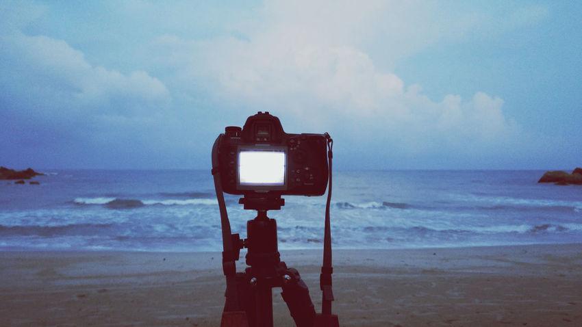 Taking Photos Sea See Through The Camera See Through Lens