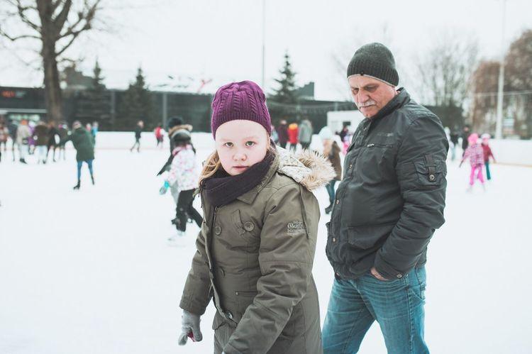 Polka Krakow Street Photography Photography Reportage Rue Patinoire Snow Winter