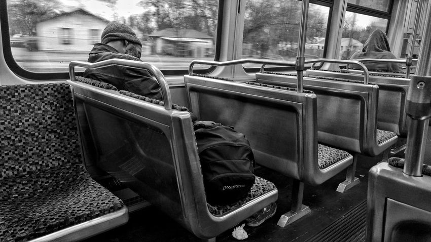 Morningcomute Sleeping Blackandwhite Monochrome Dallas Morning Black And White Train Portraits Mode Of Transport Day Transportation Indoors  The Street Photographer - 2018 EyeEm Awards