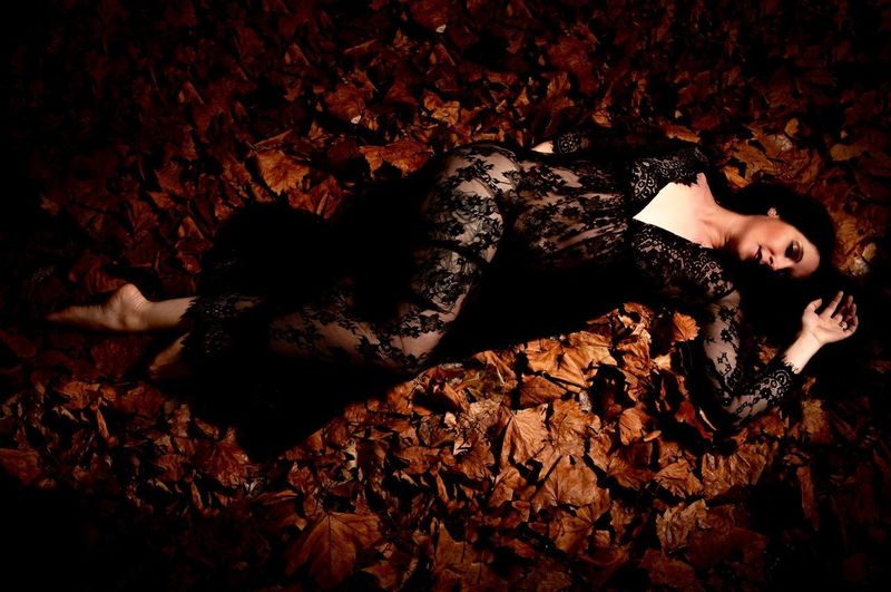 Sheer Dress Sheer Clothing One Person Lying Down Young Adult Adult High Angle View Leisure Activity Relaxation Eyes Closed  Full Length Sleeping Young Men Real People Lying On Back Leaf Nature Autumn