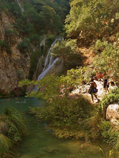 Beauty In Nature Green Holidays In Greece ❤ Idyllic Landscape Messinias (greece ) Nature Peloponnese Greece Rock Rock Formation Visit Greece Waterfalls Waterfalls Polilimnio Messinia