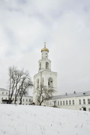 Architecture Building Exterior Winter Bare Tree History No People Place Of Worship Dome Church White White Color Orthodox Orthodox Church Orthodox Monastery Onion Dome Old Russia Velikiy Novgorod Novgorod NovgorodtheGreat Cold Temperature Day Outdoors Façade Snow