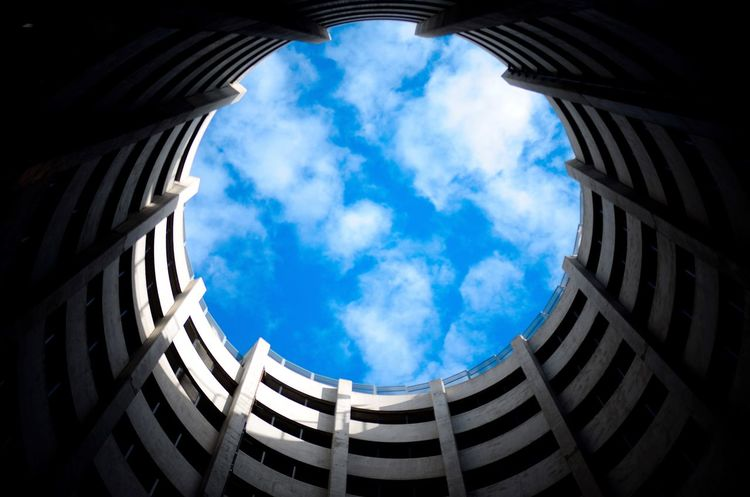 The Secret Spaces (Instagram: @iamjosway) Cloud - Sky Architecture Sky Built Structure Low Angle View Day Sunlight Blue Building Exterior No People Travel Destinations Outdoors DetroitMichigan Downtown Symmetry Detroit Michigan Motorcityshooters The Street Photographer - 2017 EyeEm Awards The Architect - 2017 EyeEm Awards Lost In The Landscape Perspectives On Nature Visual Creativity