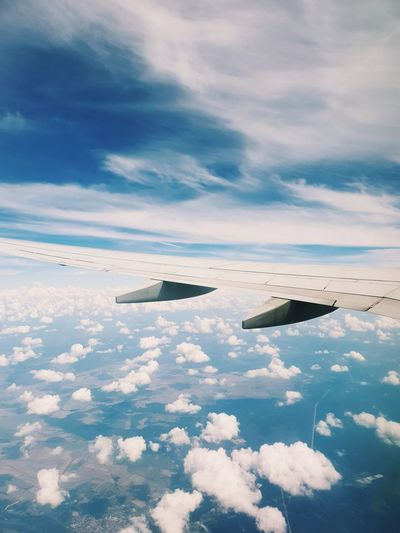 Dividing the clouds. Water Airplane Sea Aerial View Sky Cloud - Sky Landscape Aircraft Wing Air Vehicle Airplane Wing Commercial Airplane Aerospace Industry Capture Tomorrow