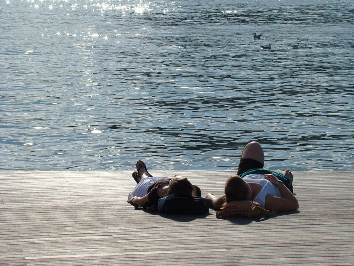 Barcelona Beauty In Nature Day Leisure Activity Lifestyles Lovers Nature Outdoors Relaxation Rippled Sitting Tranquil Scene Tranquility Vacations Water