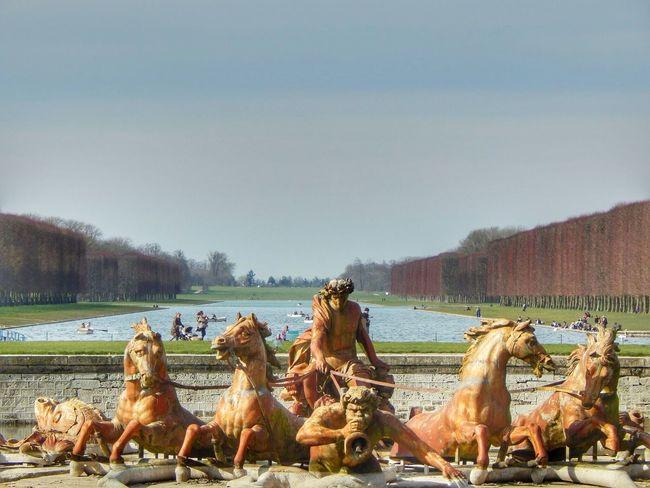 La Fuente de Apolo. Palacio de Versalles, Francia. Marzo de 2014.