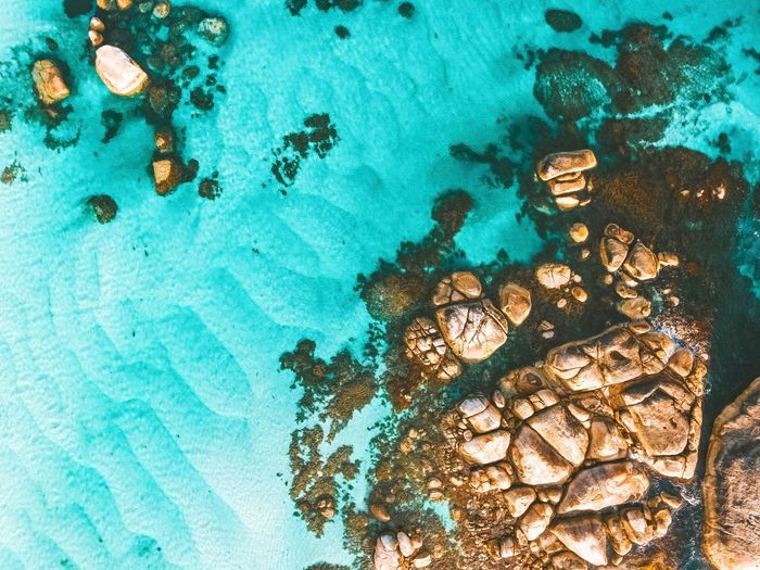 Full Frame No People Blue Day Backgrounds Water High Angle View Nature Pattern Outdoors Turquoise Colored Sea Close-up Beauty In Nature Rock Land