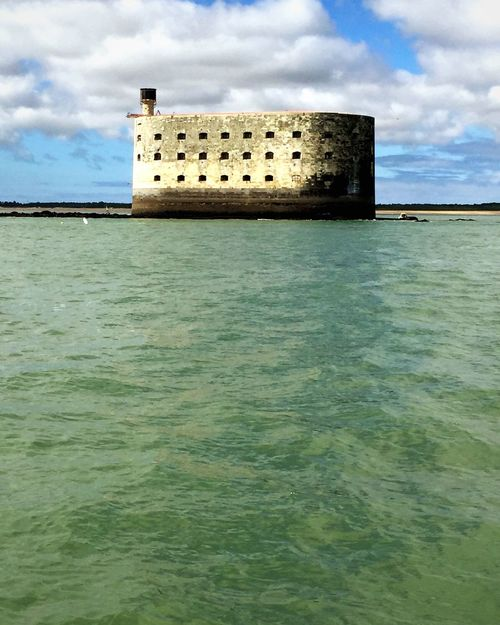 the emblematic fort! France Fort Boyard House Old Buildings Houses And Windows Old Monument Famous Famous Place Exterior Exterior Design Outdoors Outdoor Photography Outdoor Fort Military Old Building  Architecture Island Sea Sea And Sky Seascape Seaside Sea View Travel