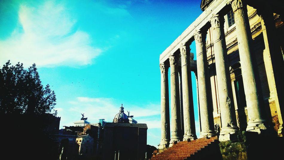 Rome Roman Ruins Italy City Blue Sky Things I Like Urban Spring Fever