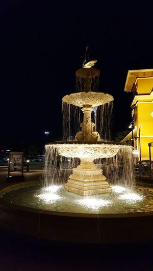Illuminated Water Fountian