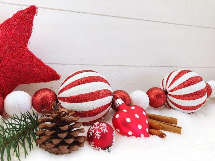 Christmas Decoration On Fake Snow
