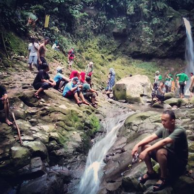 Curug gua lumut @journey kemcer Caraka Kencana indosat@venturer Indosat_adventurer Instapict Indomountain Indosat_event