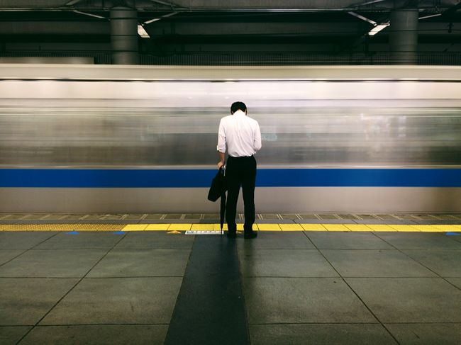 Capture The Moment After Work Train Station Passing Through Shot On IPhone 6 IPhoneography