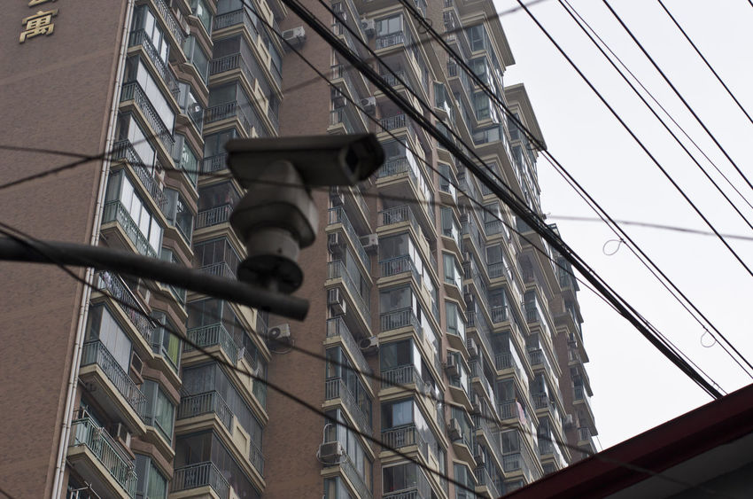 Big Brother's Watching You! Shanghai Architecture Bigbrotheriswatchingyou Building Building Exterior Built Structure City Low Angle View No People No Privacy Outdoors Privacy Security Security Camera Sky