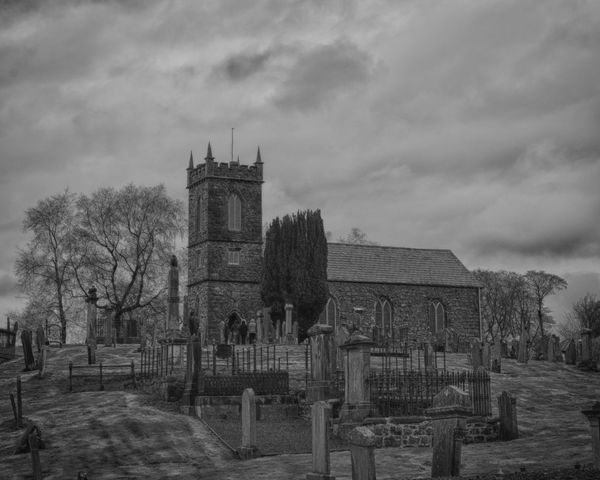 Church of Ireland St. Saviour's Kells County Antrim on Easter Saturday 2016. Church Of Ireland St. Saviour's Architecture Best Of EyeEm Best Of The Day Blackandwhite Photography Building Exterior Built Structure Church Cloudy Kells No People Old