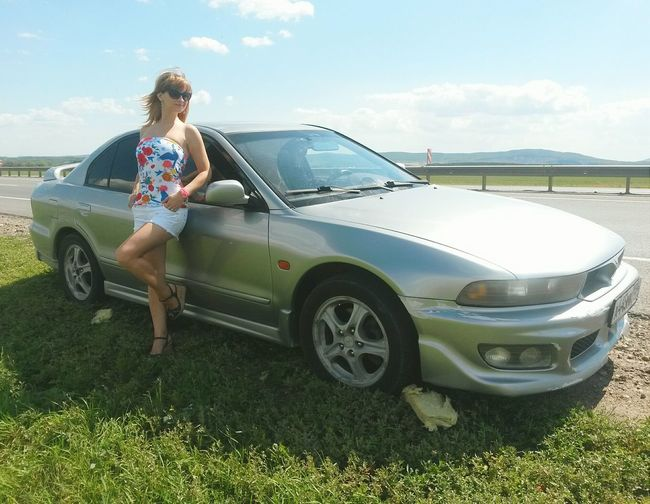 Sexygirl Model Car Mitsubishi Galant *Galant VR-4 Love ♥ Summer ☀ Walk Road Trip