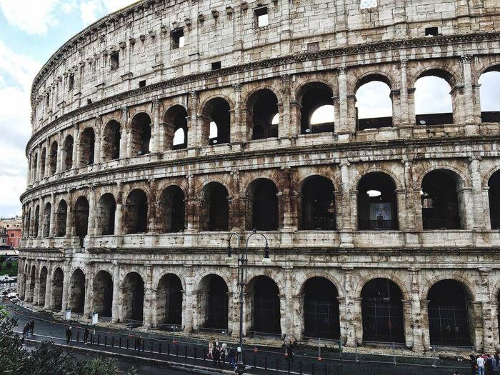 Full frame shot of colosseum in rome