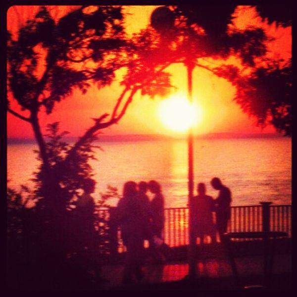 Sea Evening Sky Romantic