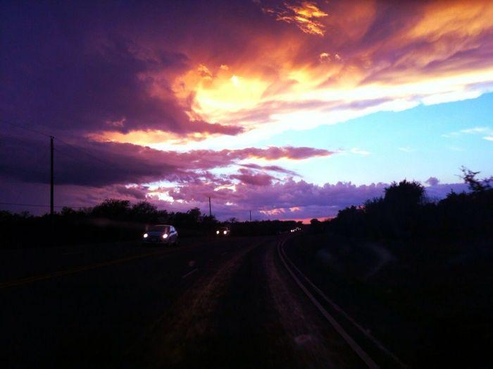 Sunset Feb 4 On Hwy 29 West Near Burnet
