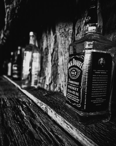 After Party. Drink Afterparty Jack Daniels Jennessee Whiskey Bw Bwphotography BWlovers Bw_collection Bw_photooftheday Photography Nikon Close-up Beverage Alcoholic Drink